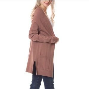 Long Sleeve Cardigan with Side Detail